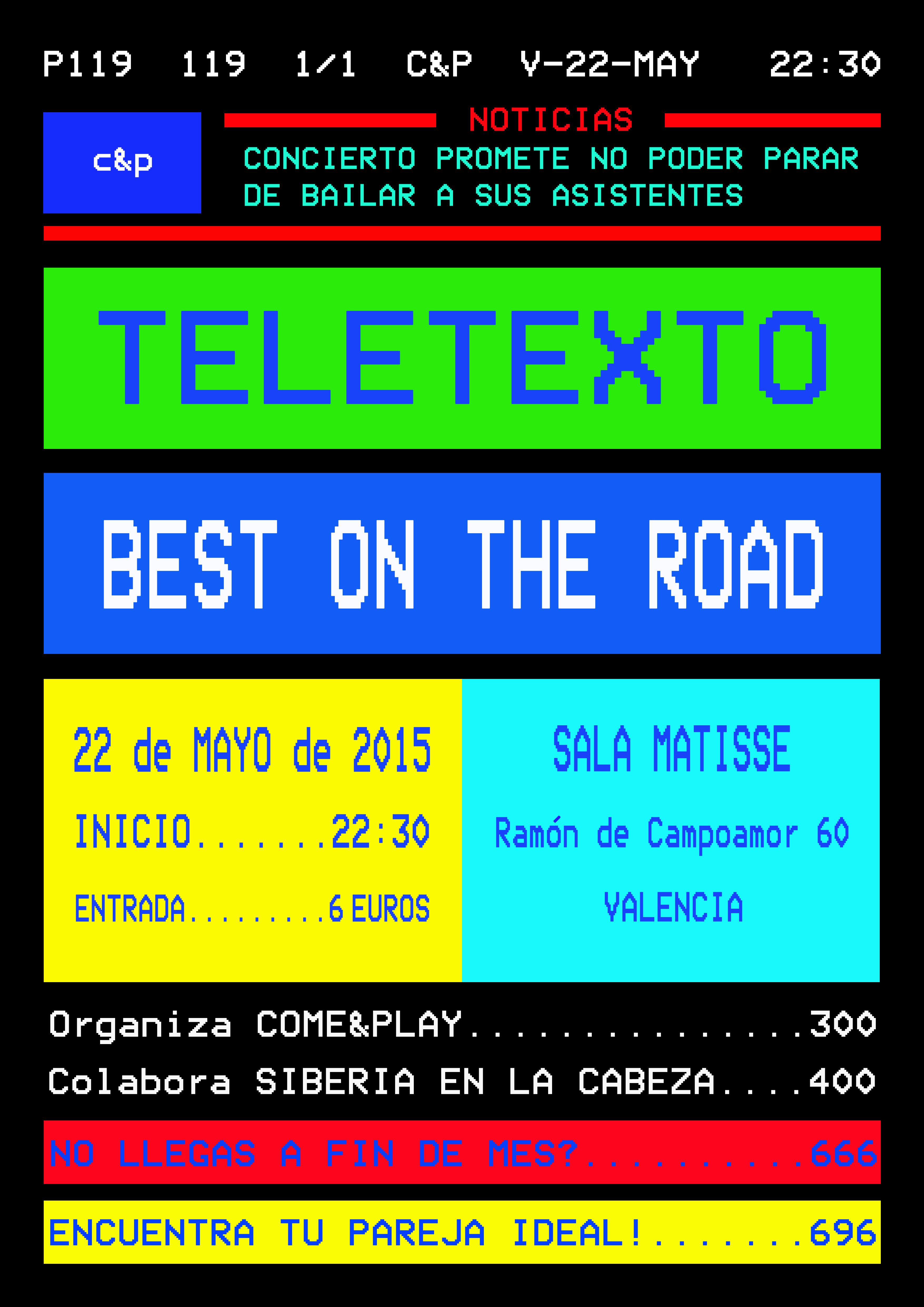 TELETEXTO + BEST ON THE ROAD