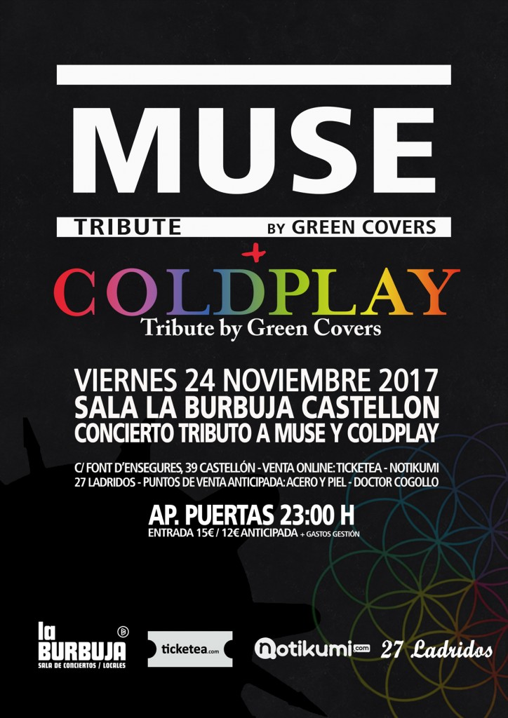 muse coldplay tribute green covers castellon
